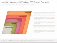 Innovative Management Practices Ppt Sample Download