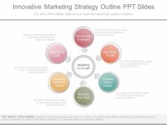 Innovative Marketing Strategy Outline Ppt Slides