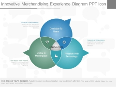 Innovative Merchandising Experience Diagram Ppt Icon