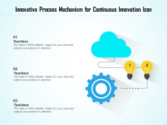 Innovative Process Mechanism For Continuous Innovation Icon Ppt PowerPoint Presentation File Objects PDF