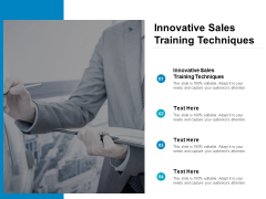 Innovative Sales Training Techniques Ppt PowerPoint Presentation Summary Graphics Pictures Cpb