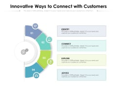 Innovative Ways To Connect With Customers Ppt PowerPoint Presentation Pictures Slides PDF