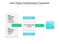 Input Output Transformation Framework Ppt PowerPoint Presentation File Example File