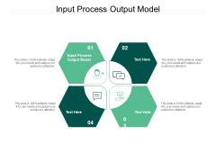 Input Process Output Model Ppt PowerPoint Presentation Summary Design Inspiration Cpb Pdf