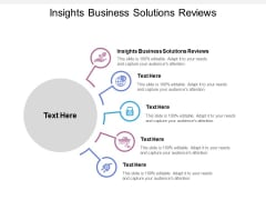 Insights Business Solutions Reviews Ppt PowerPoint Presentation Styles Information Cpb