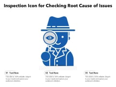 Inspection Icon For Checking Root Cause Of Issues Ppt PowerPoint Presentation File Introduction PDF