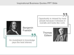 Inspirational Business Quotes Ppt PowerPoint Presentation Layouts