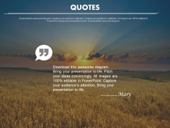 Inspirational Quotes On Sunrise Background Powerpoint Slides