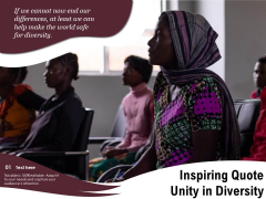 Inspiring Quote Unity In Diversity Ppt PowerPoint Presentation Icon Diagrams PDF