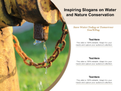 Inspiring Slogans On Water And Nature Conservation Ppt PowerPoint Presentation Gallery Mockup PDF