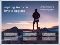 Inspiring Words On Time To Upgrade Ppt PowerPoint Presentation Pictures Maker PDF