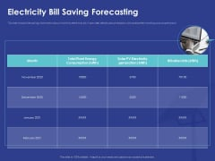 Installing Solar Plant Commercial Building Electricity Bill Saving Forecasting Brochure PDF