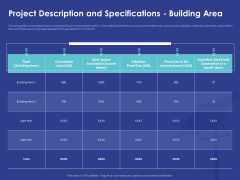 Installing Solar Plant Commercial Building Project Description And Specifications Building Area Formats PDF