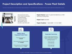 Installing Solar Plant Commercial Building Project Description And Specifications Power Plant Details Themes PDF