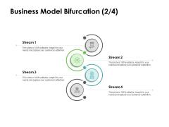 Instruction Manuals Business Model Bifurcation Stream Four Ppt Summary Designs PDF