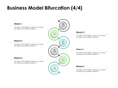 Instruction Manuals Business Model Bifurcation Stream Six Ppt Infographics Inspiration PDF