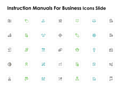 Instruction Manuals For Business Icons Slide Ppt Professional Outfit PDF