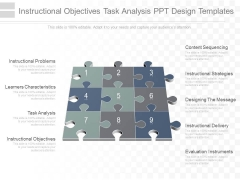 Instructional Objectives Task Analysis Ppt Design Templates