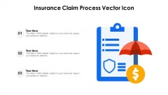 Insurance Claim Process Vector Icon Ppt PowerPoint Presentation Summary Shapes PDF