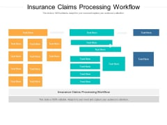 Insurance Claims Processing Workflow Ppt PowerPoint Presentation Model Styles Cpb Pdf