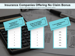 Insurance Companies Offering No Claim Bonus Ppt PowerPoint Presentation File Example PDF
