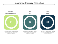 Insurance Industry Disruption Ppt PowerPoint Presentation Gallery Guide Cpb Pdf