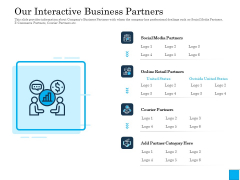 Insurance Organization Pitch Deck To Raise Money Our Interactive Business Partners Graphics PDF