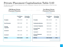 Insurance Organization Pitch Deck To Raise Money Private Placement Capitalization Table Fund Ideas PDF