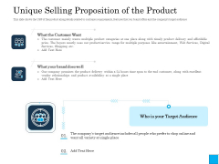 Insurance Organization Pitch Deck To Raise Money Unique Selling Proposition Of The Product Topics PDF