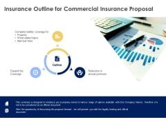 Insurance Outline For Commercial Insurance Proposal Ppt Powerpoint Presentation Layouts Examples