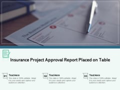 Insurance Project Approval Report Placed On Table Ppt PowerPoint Presentation Gallery Pictures PDF