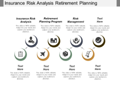 Insurance Risk Analysis Retirement Planning Program Risk Management Ppt PowerPoint Presentation Gallery Sample