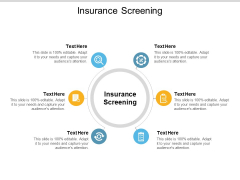 Insurance Screening Ppt PowerPoint Presentation Good Cpb