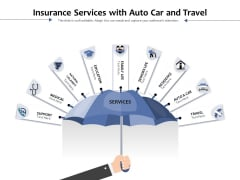 Insurance Services With Auto Car And Travel Ppt PowerPoint Presentation File Vector PDF