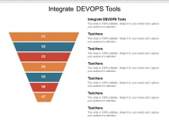 Integrate Devops Tools Ppt PowerPoint Presentation Styles Portfolio Cpb