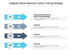Integrate Social Networks Online Training Strategy Ppt PowerPoint Presentation Outline Graphics Pictures Cpb Pdf