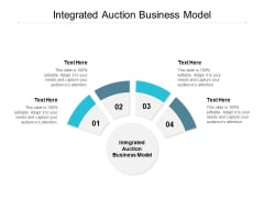 Integrated Auction Business Model Ppt PowerPoint Presentation Portfolio Master Slide Cpb