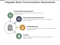 Integrated Brand Communications Requirements Development Process Strategic Marketing Ppt PowerPoint Presentation Summary Graphic Images