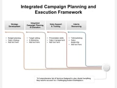 Integrated Campaign Planning And Execution Framework Ppt PowerPoint Presentation Infographics Gallery PDF