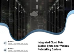 Integrated Cloud Data Backup System For Various Networking Devices Ppt PowerPoint Presentation Icon Portfolio PDF
