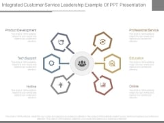 Integrated Customer Service Leadership Example Of Ppt Presentation