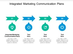 Integrated Marketing Communication Plans Ppt PowerPoint Presentation Layouts Samples