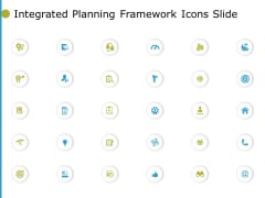 Integrated Planning Framework Icons Slide Arrow Ppt PowerPoint Presentation File Examples
