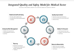 Integrated Quality And Safety Model For Medical Sector Ppt PowerPoint Presentation Gallery Backgrounds PDF