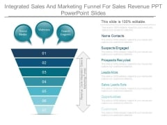 Integrated Sales And Marketing Funnel For Sales Revenue Ppt Powerpoint Slides