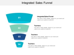Integrated Sales Funnel Ppt PowerPoint Presentation Show Visual Aids Cpb