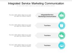 Integrated Service Marketing Communication Ppt PowerPoint Presentation Model Skills Cpb Pdf