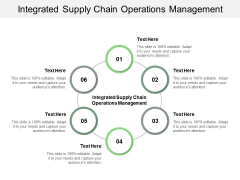 Integrated Supply Chain Operations Management Ppt PowerPoint Presentation Infographic Template Outfit Cpb