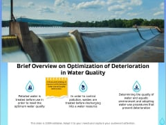 Integrated Water Resource Management Brief Overview On Optimization Of Deterioration In Water Quality Brochure PDF