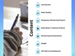 Integrated Water Resource Management Content Ppt Model Graphic Images PDF